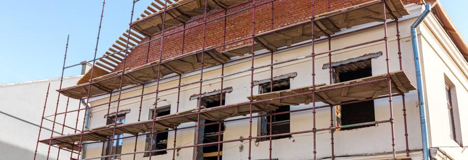 Travaux ravalement de façade maison et copropriété immeuble
